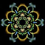 Abstrakt fractalillustration för idérik design Royaltyfri Bild
