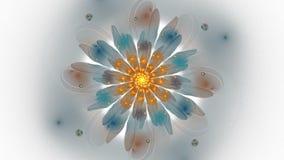 Abstrakt fractallängd i fot räknat för idérik design royaltyfri illustrationer