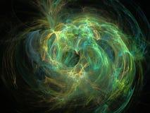 Abstrakt fractalmodell av lysande kulöra krökta linjer Arkivfoto