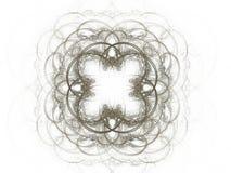 Abstrakt fractalmodell med beiga buktade linjer Royaltyfri Foto