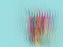 Abstrakt fractalvågmodell på turkos Royaltyfri Foto