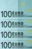 Abstrakt fragment sedeln av 100 euro Royaltyfria Foton