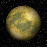 Abstrakt frambragd texturbakgrund för Pluto planet Royaltyfria Bilder