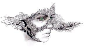 abstrakt framsidakvinna Royaltyfri Fotografi