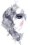abstrakt framsidakvinna Fotografering för Bildbyråer