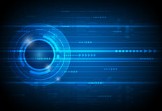 Abstrakt framtida digitalt vetenskapsteknologibegrepp