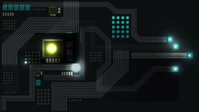 Abstrakt framtida teknologimodellbakgrund Arkivfoton