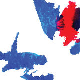 Abstrakt färgpulver befläcker vektorn Arkivfoto