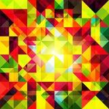 Abstrakt färgrik geometrisk Grungebakgrund Royaltyfri Fotografi