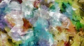 abstrakt färgrik målning Arkivfoto