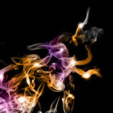abstrakt färgrik rök Arkivbilder
