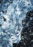 Abstrakt fryst vatten för vinter bakgrund Royaltyfria Foton
