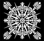 abstrakt fryzujący projekta biel ilustracja wektor