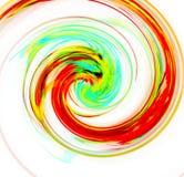 Abstrakt fullcolor spiral med en komplex filamentary struktur på vit bakgrund Fractalkonstdiagram Royaltyfria Bilder