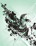 abstrakt futuristic vektor stock illustrationer
