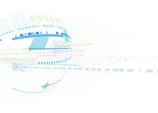 Abstrakt futuristisk affärsbakgrund Arkivfoto
