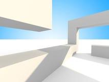Abstrakt futuristisk bakgrund för arkitektur 3d Royaltyfria Bilder