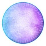 Abstrakt futuristisk bakgrund för blått & för lilor Arkivbild