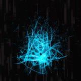 Abstrakt futuristisk bakgrund för blått & för svart royaltyfri illustrationer
