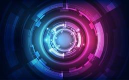 Abstrakt futuristisk bakgrund för digital teknologi illustrationvektor vektor illustrationer