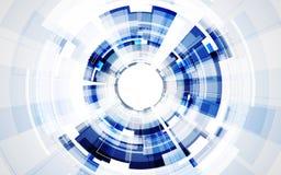 Abstrakt futuristisk bakgrund för digital teknologi illustrationvektor Royaltyfri Foto