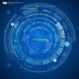 Abstrakt futuristisk blå faktisk grafisk handlagmanöverenhet HUD Royaltyfria Foton