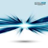 Abstrakt futuristisk blå krabb bakgrund Royaltyfri Bild