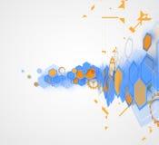 Abstrakt futuristisk datateknikaffärsbakgrund Royaltyfria Foton