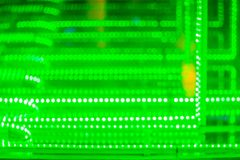 Abstrakt futuristisk gräsplan ledde ljusbakgrund Blinkagräsplan Arkivbild