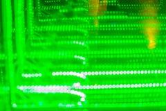 Abstrakt futuristisk gräsplan ledde ljusbakgrund Blinkagräsplan Royaltyfria Bilder