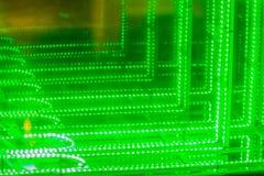 Abstrakt futuristisk gräsplan ledde ljusbakgrund Blinkagräsplan Fotografering för Bildbyråer