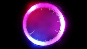 Abstrakt futuristisk grafisk cirkel som glöder i olika färger, illustration 3D vektor illustrationer