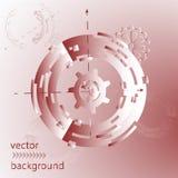 Abstrakt futuristisk illustration för bakgrund med mekaniska kugghjul och hjul Arkivfoton