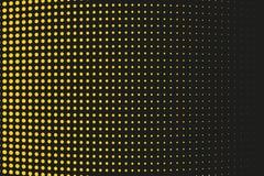 Abstrakt futuristisk rastrerad modell Komisk bakgrund Den prickiga bakgrunden med cirklar, prickar, pekar den stora skalan Svart  Royaltyfri Fotografi