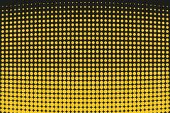 Abstrakt futuristisk rastrerad modell Komisk bakgrund Den prickiga bakgrunden med cirklar, prickar, pekar den stora skalan Svart  Arkivfoton