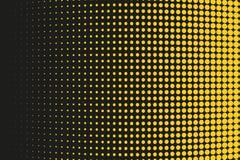Abstrakt futuristisk rastrerad modell Komisk bakgrund Den prickiga bakgrunden med cirklar, prickar, pekar den stora skalan Svart  Royaltyfri Foto