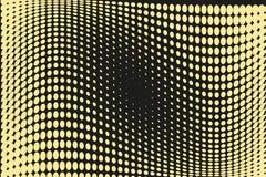 Abstrakt futuristisk rastrerad modell Komisk bakgrund Den prickiga bakgrunden med cirklar, prickar, pekar den stora skalan Svart  Fotografering för Bildbyråer
