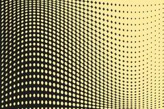 Abstrakt futuristisk rastrerad modell Komisk bakgrund Den prickiga bakgrunden med cirklar, prickar, pekar den stora skalan Svart  Royaltyfria Bilder