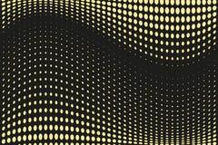 Abstrakt futuristisk rastrerad modell Komisk bakgrund Den prickiga bakgrunden med cirklar, prickar, pekar den stora skalan Svart  Arkivfoto
