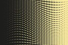 Abstrakt futuristisk rastrerad modell Komisk bakgrund Den prickiga bakgrunden med cirklar, prickar, pekar den stora skalan Svart  Royaltyfri Bild