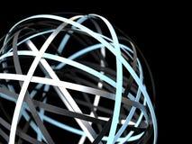 Abstrakt futuristisk sfär av cirklar stock illustrationer
