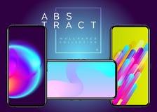 Abstrakt futuristisk tapetsamling för telefon vektor illustrationer