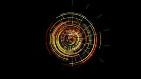 Abstrakt futuristisk urverkmekanism som glöder med röd och grön färg vektor illustrationer