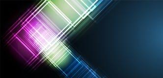 Abstrakt futuristiskt bleknar datateknikaffärsbakgrund Arkivfoton