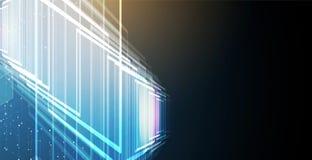 Abstrakt futuristiskt bleknar datateknikaffärsbakgrund Royaltyfri Foto