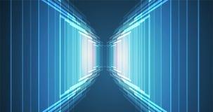 Abstrakt futuristiskt bleknar datateknikaffärsbakgrund Royaltyfri Bild