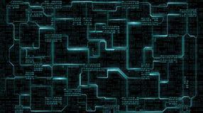 Abstrakt futuristiskt bräde för elektronisk strömkrets med den binära koden, bakgrund för digital teknologi för dator Royaltyfria Foton