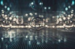 Abstrakt futuristiskt inre exponeringsglas reflekterar och bryter bakgrundseffekt Royaltyfri Foto