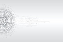 Abstrakt futuristiskt strömkretsbräde Arkivfoto