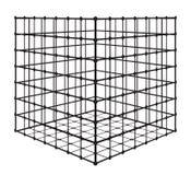 Abstrakt fyrkant med raster Vektorillustration för EPS 10 Arkivbild